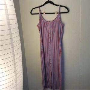 midi dress striped F21